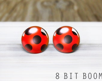 Miraculous Ladybug Earrings - Hypoallergenic Nickel Free Earrings