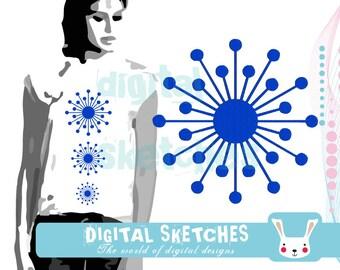 Dandelion Machine Embroidery Design 6 Sizes