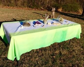 Green Cotton Dip Dye Tablecloth 60 x 94