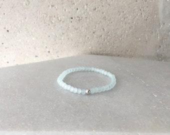 Small Light Blue Stretch Bracelet