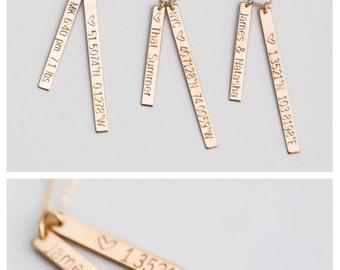 Engraved Coordinates Necklace, Custom Coordinates, Personalized Necklace, Latitude Longitude, Location Coordinates, Mothers Gift