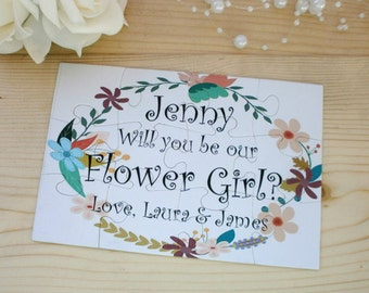 Will You Be my Flower girl Be my Junior Bridesmaid Will You Be our Flower girl Asking Bridesmaid