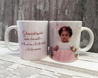Photo Mugs, Custom Mugs, Personalized Mug, New Grandma Gift, Picture Mugs, Grandma Gifts, New Grandma, Coffee Mug, Gift for Nana, Dad Gift