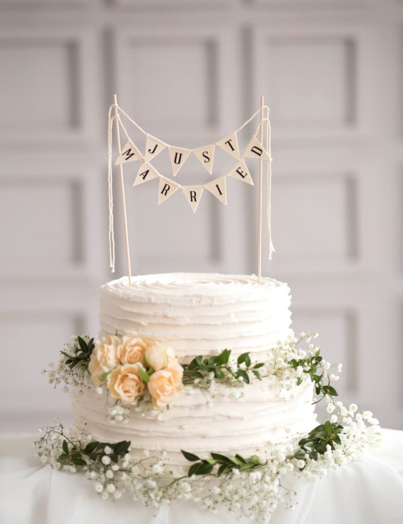rustic wedding cake toppers just married wedding cake topper banner wedding by 7207