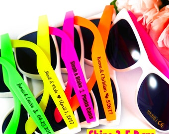 SET of 12 Personalized Sunglass Wedding Favors - Beach Wedding Favor - Wedding Sunglasses - Custom Sunglasses for Wedding