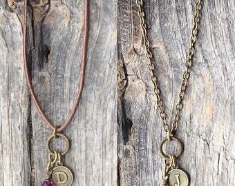 Amethyst birthstone necklace, personalized amethyst necklace, Valentine's Day gift, new Mom, February birthday, February amethyst jewelry