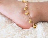 Baby Anklet with Bells, Boho Baby, Modern Baby Shower Gift Set, Jingle Bell Anklet, Barefoot Baby, Silver Ankle Bracelet, Twin Jewelry Gift