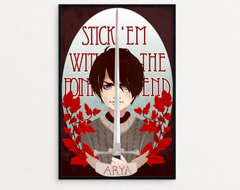 Arya Game of Thrones Poster | fanart print, game of thrones, GoT, TV, Stark, Gift