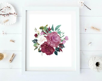 Rose Wall Decor country chic decor   etsy
