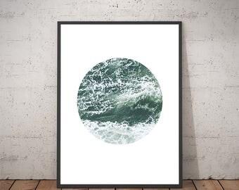 Ocean - Ocean Art - Ocean Print Art - Ocean Print - Waves Art - Ocean Wave - Water Wall Art - Ocean Decor - Water Print - Sea Print Art