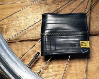 Bike inner tube wallet * Vegan wallet * Bifold unique wallet * Eco friendly wallet * Upcycled  wallet (V211)