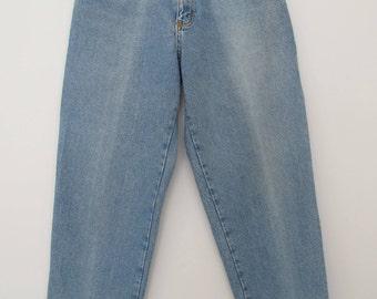 Vintage Lee jeans / Lee jeans / Lee Cooper / Banana pants / high waisted jeans / high rise jeans / ligh wash denim / elastic waist pants