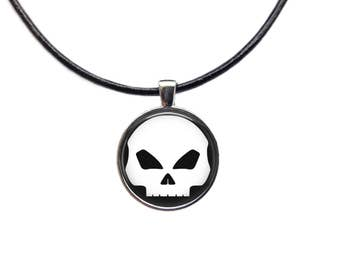Skull Necklace Human Skull Pendant Necklace Anatomical necklace Charm