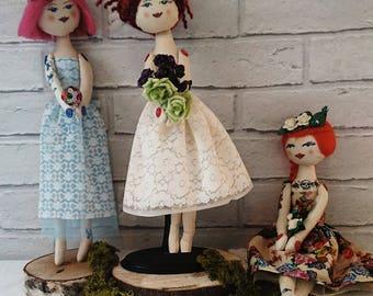 Handmade customised bridesmaid or flower girl gift