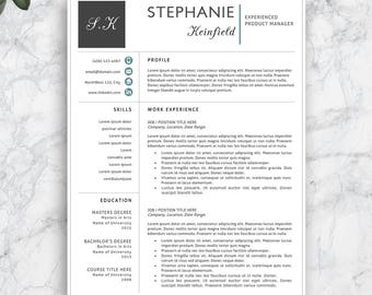 Professional Resume Template. Modern Resume Template for Word and Pages. Complete 1,2,3 Pages Resume Template. Modern CV Template.