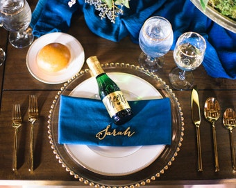 Champagne Labels \\ Mini or Regular Size \\ Champagne Toast Favor Labels