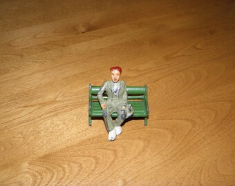 Vintage Barclay Man on a Bench Figures