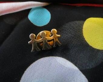 Vintage brooch pendant pin vintage jewelry children people pin brooch pendant children