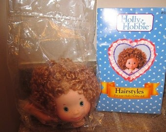 HOLLY HOBBIE:  Doll Head & Hands with Hairstyle Booklet For your Holly Hobbie DOLL - #55000 - 1991 Those Characters From Cleveland Inc. -