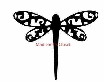Flourish Dragonfly SVG Cutting Digital File Only