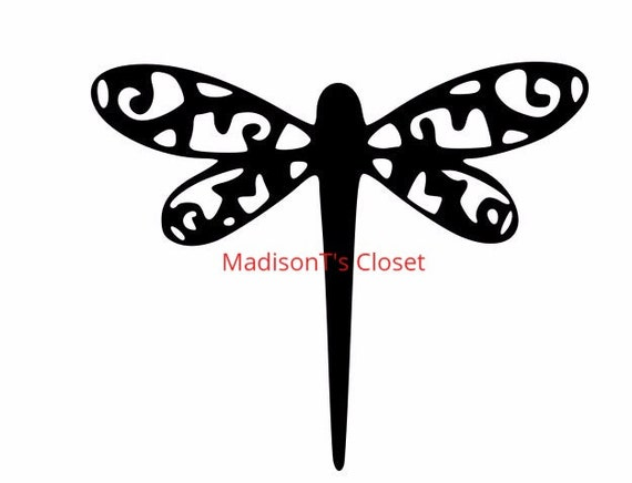 Flourish Dragonfly Svg Cutting Digital File Only From