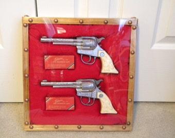 Vintage 1950's Kilgore Ranger Cap Guns Set
