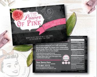 Plexus Slim Sample Card - Cabbage Rose