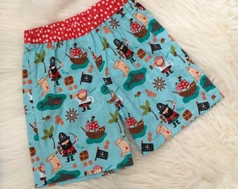 Boys Pirate Shorts, Summer shorts, Age 6-12 months