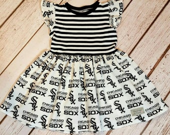 Chicago White Sox dress 8Y and 10Y