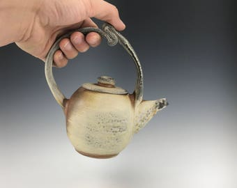 Soda Fired Teapot holds 12 ounces