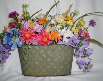 Basket of flowers door hanging