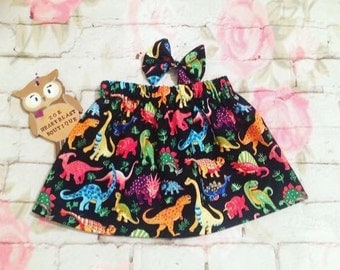 Girls Dinosaur Skirt Multicoloured Rainbow Dino Roar Rawr Fashion Baby Toddler Infant Kids Child Teen Adult Fashion Dinosaur Birthday Party