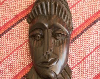 Vintage Hand Carved African Mask
