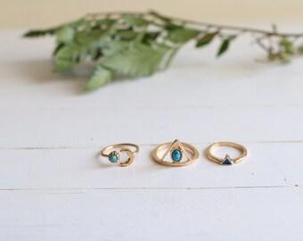 Gold Egyptian Goddess Rings