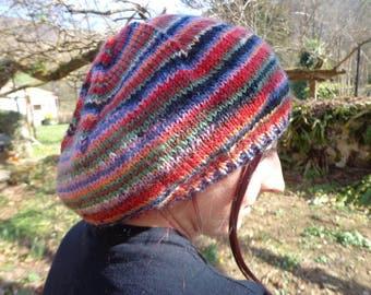 Slouchy beanie, slouchy knit hat, ski beanie, multicolore hat, rainbow beanie, slouchy hat, merino beanie, wool hat, slouchy trend