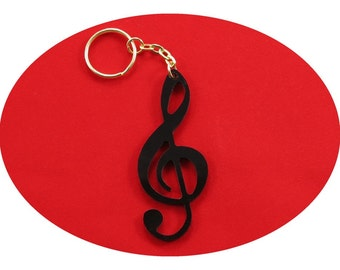Treble Clef Lucky Charm Bag Dangler Key Ring Party Favour Favor