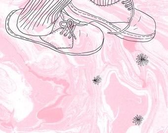 Our love was pastel petals A4 print