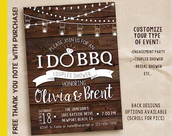 I do bbq engagement party, I do bbq party, I do bbq invitation