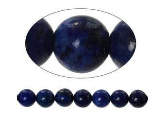 60 round Lapis Lazuli 6mm beads