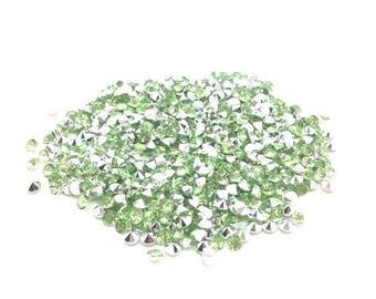 520 green 4mm clear acrylic rhinestones