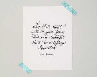 Calligraphy Art Print - Lifelong Loveletter