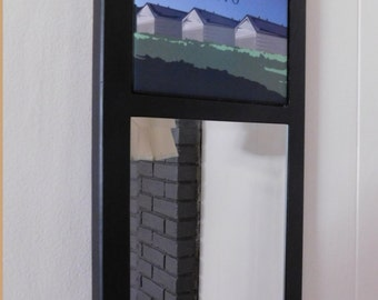 Framed Mirror with Tile - Simsbury CT
