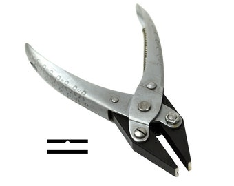 "Jewelers Parallel Action Pliers 5-1/2"" 140 mm w/ Serrated Flat Nose for Jewelry Making Repair Wire Working PLR-0076"