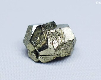Natural Dodecahedral Pyrite Crystal Specimen