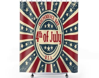 4th of July Independence Day Shower Curtain