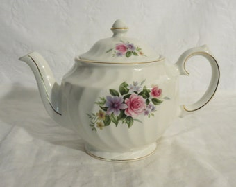 Windsor English Floral Teapot, 4 cup English Teapot, Tea Service, Stamped and numbered Windsor, Windsor, Floral Tea Service, Made in England