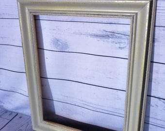 Gallery Frame, Gray And Gold Frame, Distressed Wood Frame, Wall Decor, Farm Kitchen, Rustic Kitchen, Empty Frame, Wood Frame