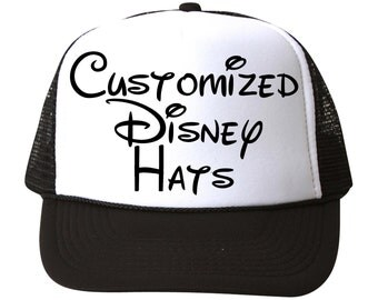 Customizable Disney Trucker Hats // Great for Vacations // Birthday Parties // Day at The Parks // Disney World // Disneyland