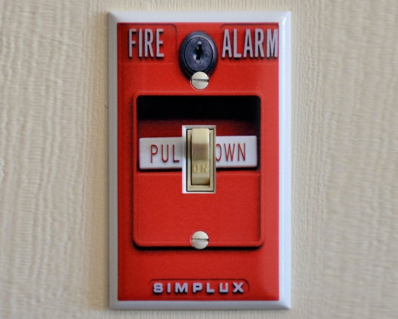 Fire Alarm Switch Plate Wall Plate Cover Mancave Gag Gift