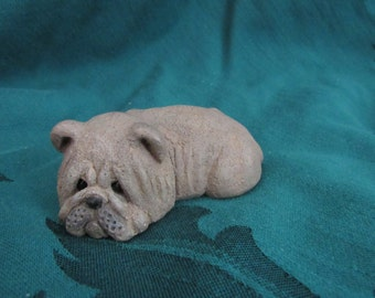 Vintage Shar Pei Dog Figurine